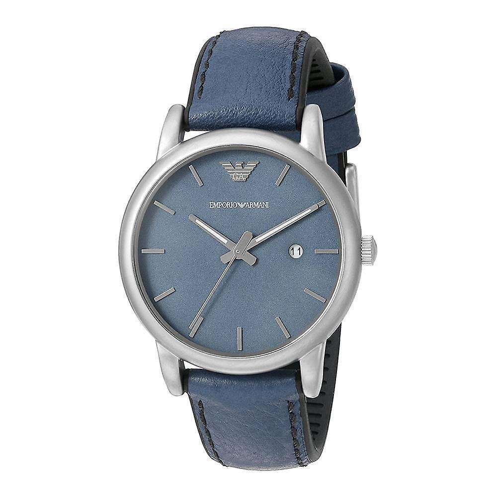 Emporio Armani poignet Mens Watch cuir bleu bracelet cadran AR1972