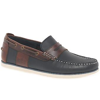 Barbour Keel Mens Slip On Boat Penny Loafers