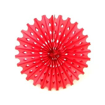 Decoration Big Sun Red Honeycomb Hanging Fan
