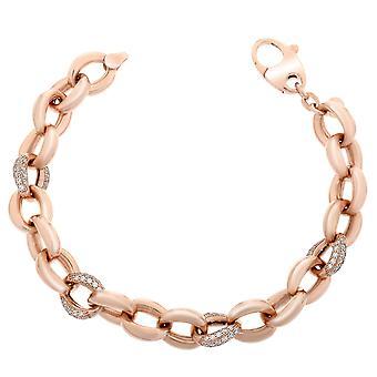 Orphelia Silver 925 Bracelet Rosegold Links Zirc  ZA-7175/RG