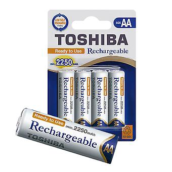 TOSHIBA AA Rechargeable High Capacity Batteries Ni-MH min. 2250 mAh