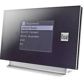 Dual IR 3A Internet radio adapter DAB +, FM Bluetooth, Internet-radio DLNA-kompatibel, Spotify svart, silver