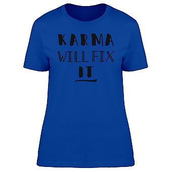 Karma zal Fix It Tee Women's-beeld door Shutterstock