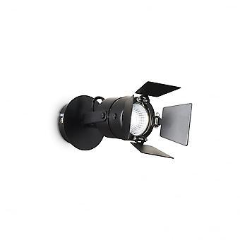 Ideal Lux Ciak Wall Light Black