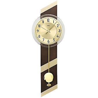 Quartz with pendulum wooden case mineral glass wall clock of Walnut wall clock