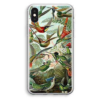 iPhone-XS Transparant Tasche (Soft) - Haeckel Trochilidae