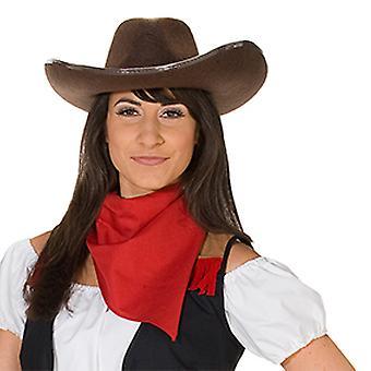 Brązowy kowbojski kapelusz