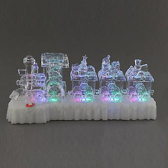 Festive Productions Colour Changing Lit Acrylic Christmas Train Xmas Decoration