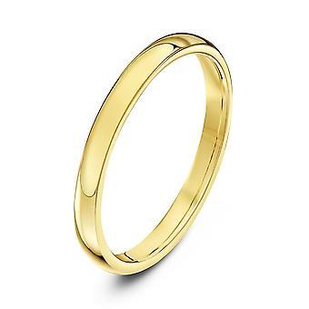Star Wedding Rings 9ct Yellow Gold Heavy Court Shape 2mm Wedding Ring