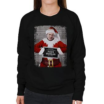 Christmas Mugshot Piers Morgan Women's Sweatshirt
