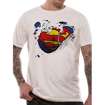 Superman - Torn Logo (Unisex)   T-Shirt