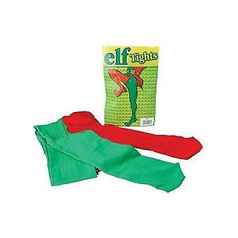 Elf Rajstopy czerwony/zielony.
