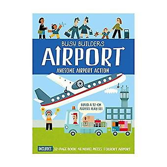 Geschäftigen Bauherren Flughafen