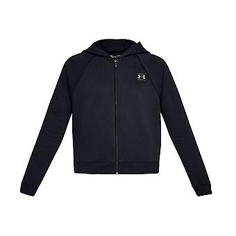 Sob camisola Womens armadura Rival Fleece Full Zip Hoodie 1328836-001