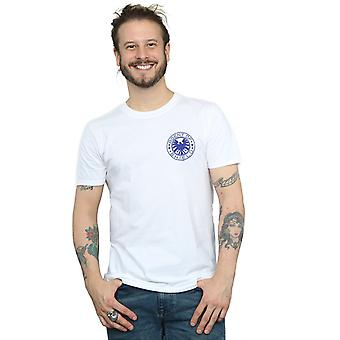 マーベル メンズ エージェント盾胸のプリント t シャツ
