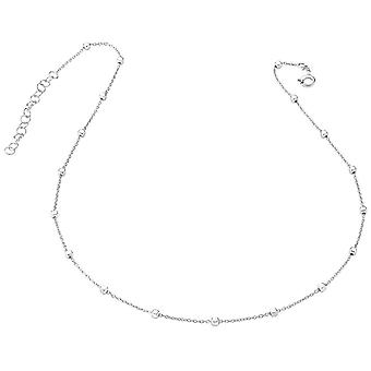 Bella Square Bead Link Necklace - Silver