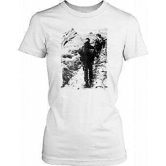 Royal Marines Carrot nelle Falklands Ladies T camicia