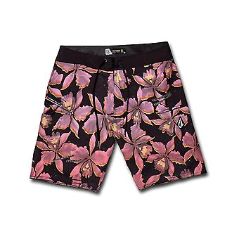 Volcom Fauna Mod 20 Mid Length Boardshorts in Neon Pink