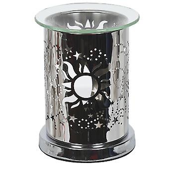 Aroma Mirror Wax Melt Burner, Sun and Moon