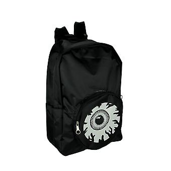 Black and White Eyeball Backpack with Laptop Sleeve