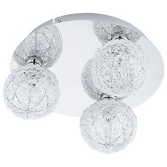 Eglo - Prodo 1 Chrom drei Draht Ball Schatten Decke Licht EG92668
