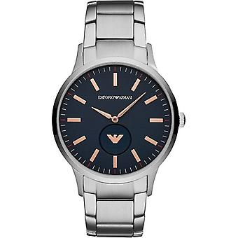 Emporio Armani Ar11137 Blue Dial Stainless Steel Bracelet Men's Watch