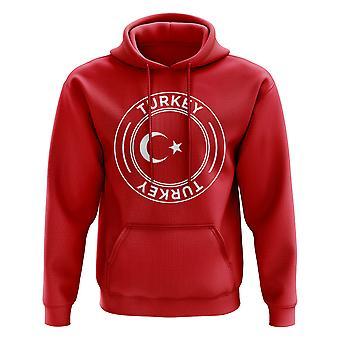Turquie football badge Sweat à capuche (rouge)
