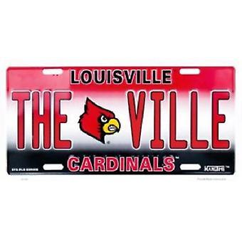 Louisville Cardinals NCAA «la VILLE» plaque d'immatriculation