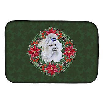 Carolines trea Sures CK1517DDM Maltesiska Poinsetta Wreath Dish torkning matta