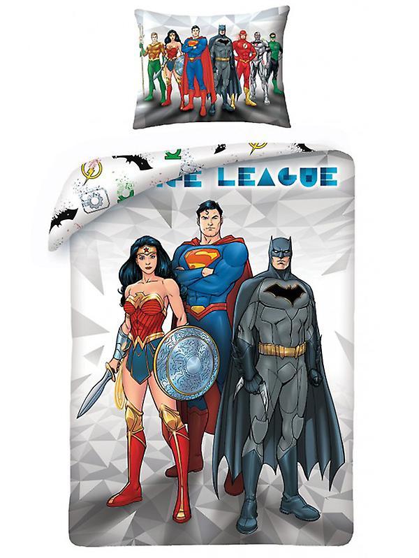 Justice League Single Duvet Cover and Pillowcase Set