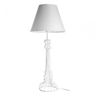 Premier Home Chicago vit bordslampa, pulverlackerad tråd, vit