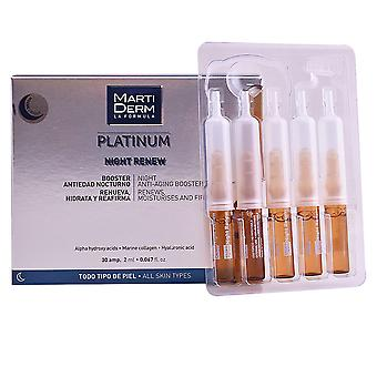 Martiderm Platinum Night renovar ampolas 30 X 2 ml unisex