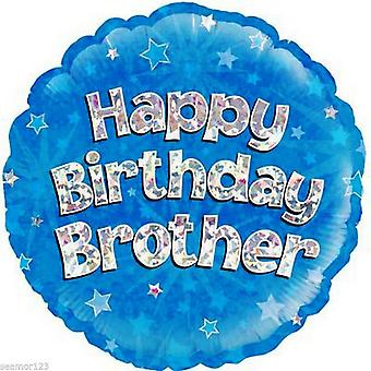 Oaktree 18 Inch Happy Birthday broer folie ballon