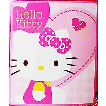 Blanket - Hello Kitty - Pink Hearts New 50x60