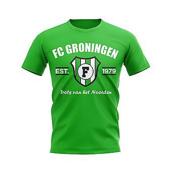 FC Groningen perustettiin jalka pallo T-paita (vihreä)