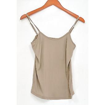 Dennis Basso kvinner ' s topp justerbar stropp camisole beige A262924