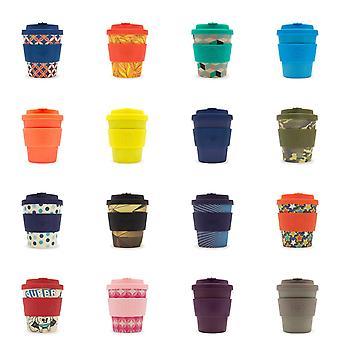 Ecoffee Eco-Friendly 8oz 240ml Wielokrotnego użytku Natural Bamboo Fibre Tea & Coffee Cups Z silikonową pokrywką Top Do podróży i domu - różne kolory