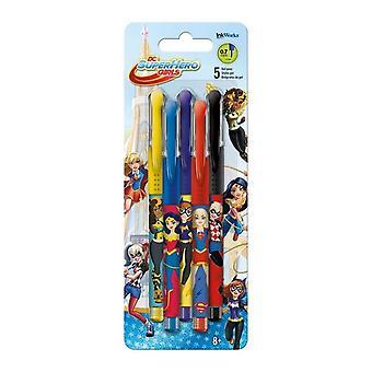 DC Super Hero Girls Gel Pens - 5-Pack
