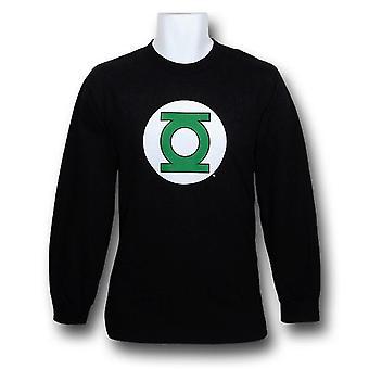 Green Lantern Symbol Long Sleeve Black T-Shirt