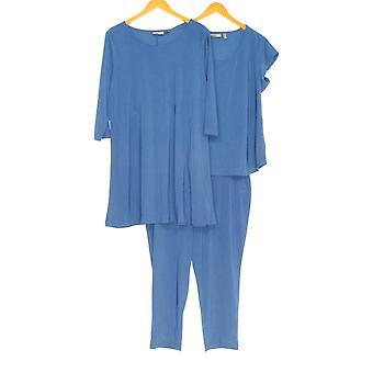 Attitudes by Renee Petite Set 3-pcs Wardrobe Warrior Navy Blue A308329