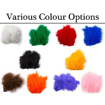 20 Premium Marabou Feathers for Crafts - Choice of Colour