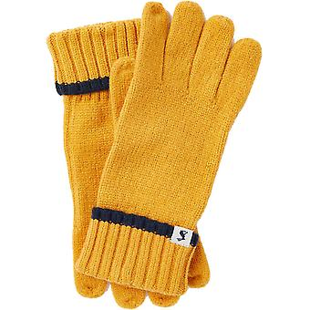 Joules Womens Snowday Turnup Warm Knitted Winter Gloves