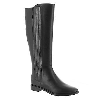كالفن كلاين النساء ناعما النسيج وأشار إلى الركبة الركبة أحذية الأزياء العالية