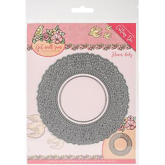 Finden Sie es Trading Yvonne Kreationen Die-Flower Doily, Get Well Soon