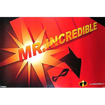 The Incredibles (Single Sided Advance Mr Incredible) Original Cinema Poster