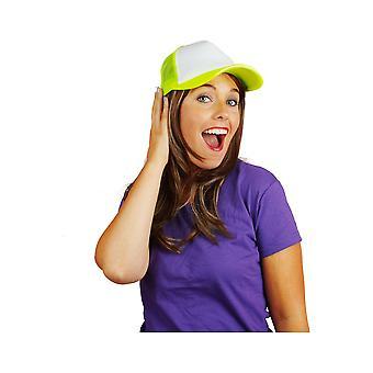 Hårpynt Baseball cap Neon Fluo gul