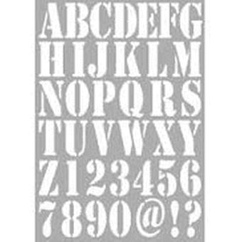 Dutch Doobadoo Stencil - A4 Alphabet #455001