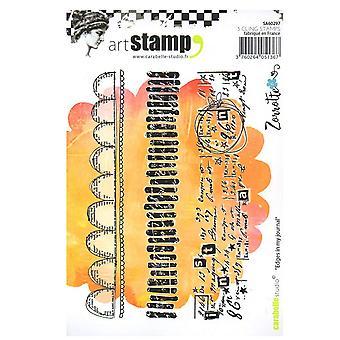 Carabelle Studio Cling stempel A6 door Zorrotte-randen In mijn dagboek