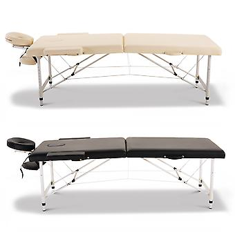 Aluminium Massage Table Bed Foldable Facial Spa Carry Bag Adjustable Height