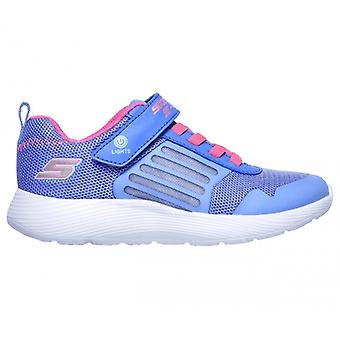 Skechers Dyna-lights Girls Trainers Blue/neon Pink